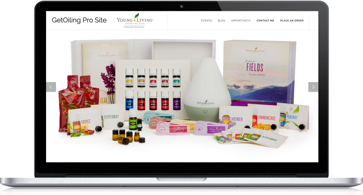 wGetOiling Easy, Customizable, Pre-Made Personal Web Sites, Contact Manager, and Email & Text Marketing for Young Living Distributors